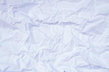 Foglio di carta accartocciata
