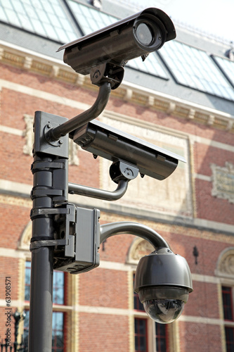 Cameras in front of the building, Amsterdam - Netherlands