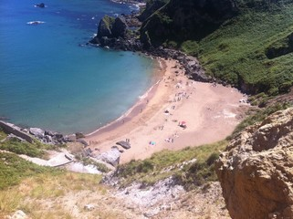 Summer beach north of Spain
