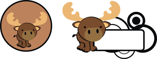 reindeer cartoon baby cute copyspace