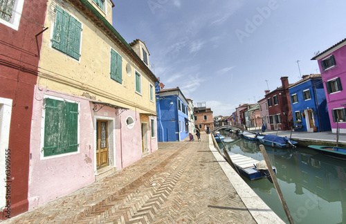 Colourful homes of Burano - Islands of Venice - Italy