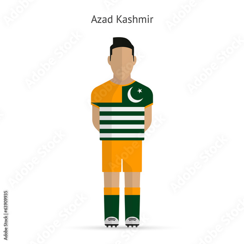 Azad Kashmir football player. Soccer uniform.
