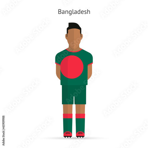 Bangladesh football player. Soccer uniform.