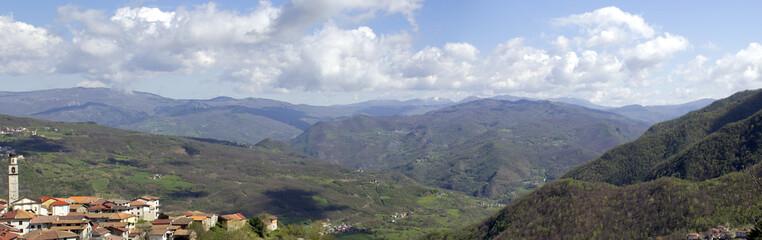 Valle Staffora-Oltrepo Pavese-Panorama color image