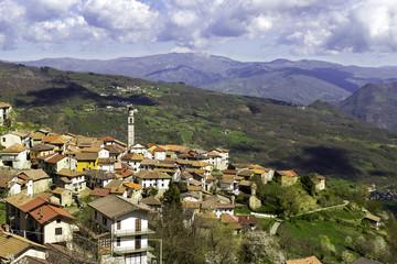Santa Margherita di Staffora-Oltrepo Pavese-Panorama color image
