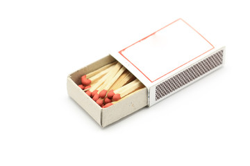 red match in matchbox
