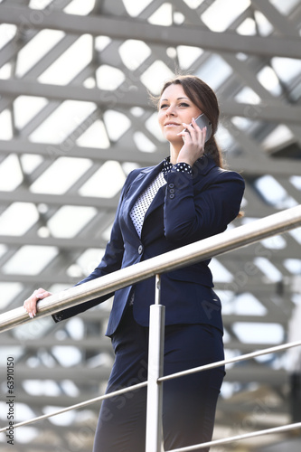 Young business woman in the big city