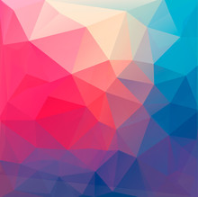 Polygon abstract background. Vector.