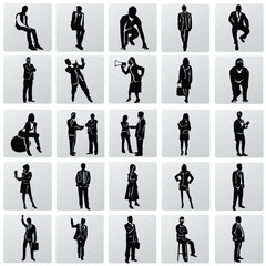 Business people silhouettes,vector