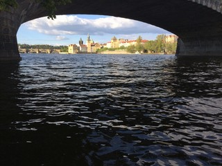 Under the bridge in Prague