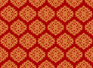 Beautiful art pattern wallpaper on red background