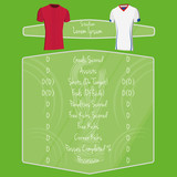 Soccer Team Player Charts Editable With Space For Text poster