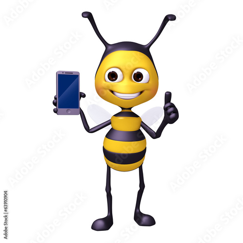 bee with smrtphone