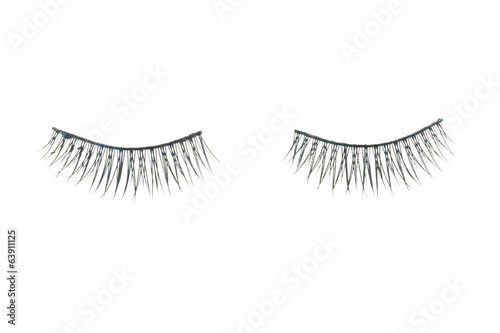 Black fake eyelash isolated
