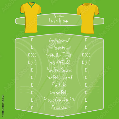Soccer Team Player Charts Editable With Space For Text
