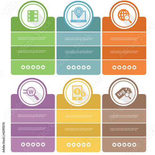 SEO Banners,Colorful version,vector