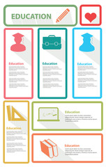 Education banner for text, vector