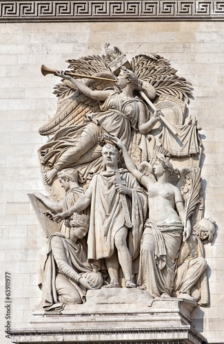 Arc de Triomphe Paris detail