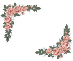 古めかしい薔薇のフレーム