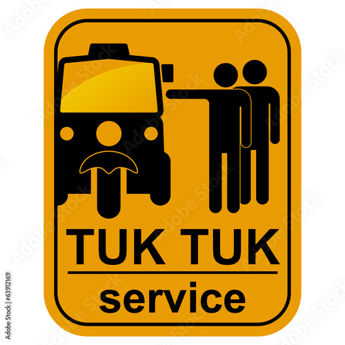 Vector black tuk tuk service icons set.
