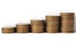 Юбилейные десятирублёвые монеты РФ в виде графика роста