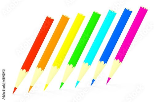 Colored pencils set.