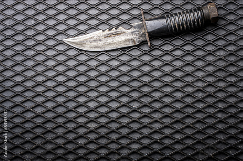 Combat knife background
