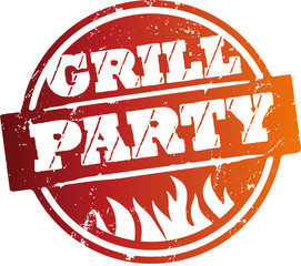 Button Grillparty orange