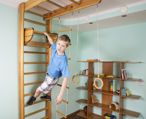 Boy in the children room