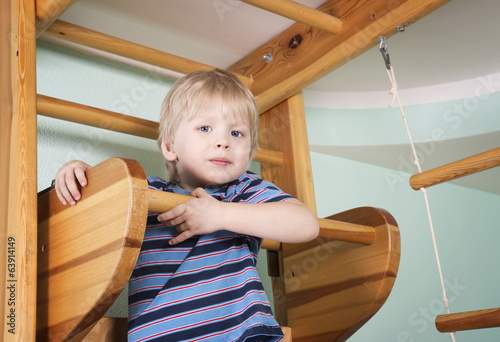 Child in the children room