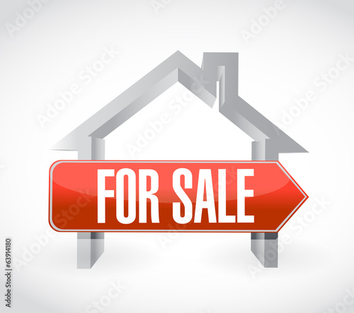 for sale home illustration design