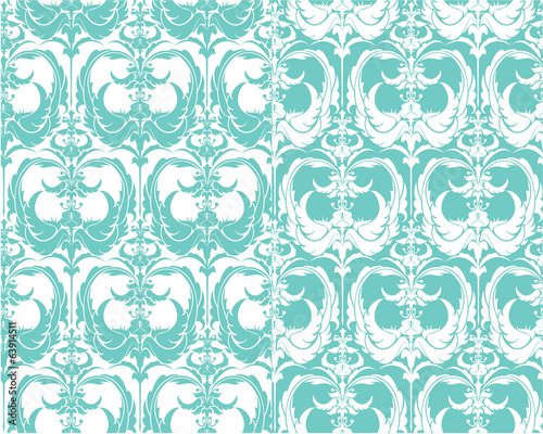 Set of seamless patterns - floral ornamental background