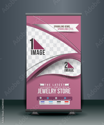 jewelery Store Roll Up Banner Design