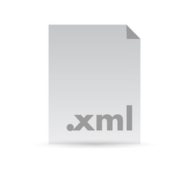xml document file illustration design