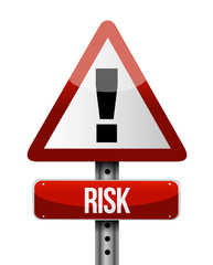 risk warning sign illustration design