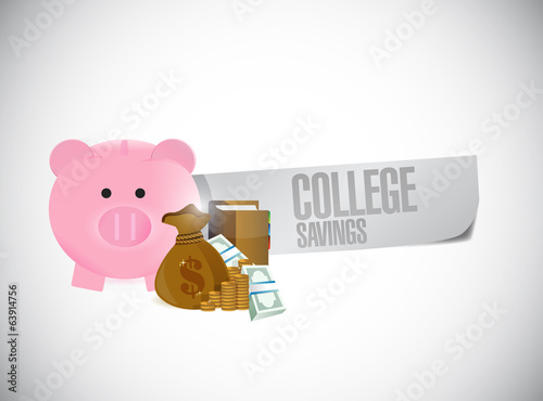 college savings sign illustration design