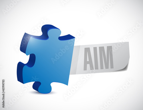 puzzle aim sign illustration design