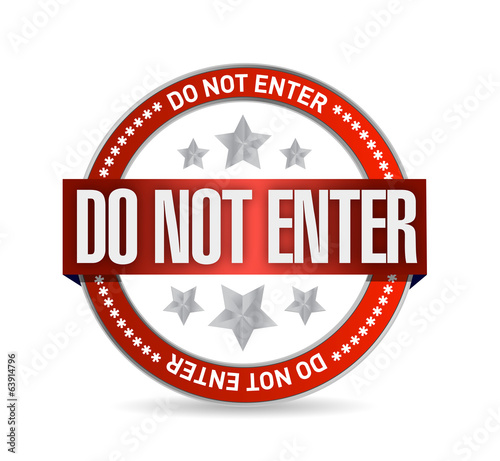 do not enter seal illustration design
