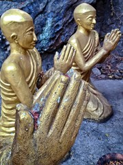 Praying Buddhist Statue at Mount Phu Si, Luang Prabang, Laos