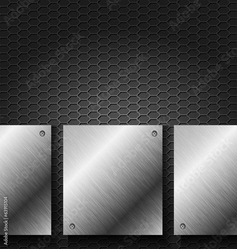 Abstract black metal technology background