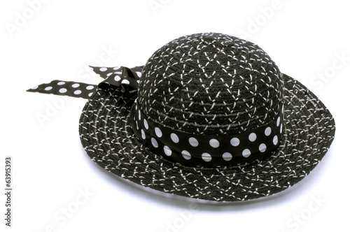 Female summer hat isolated on a white background