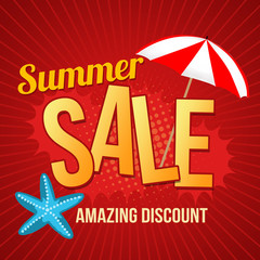 Summer sale promotional poster