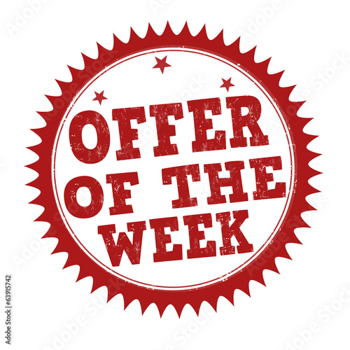 Offer of the week stamp