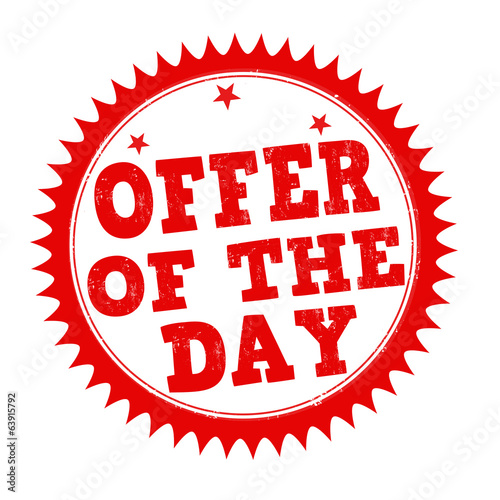 Offer of the day stamp