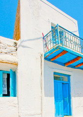 beautiful old traditional house in Amorgos island in Greece