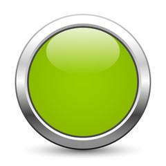 Hellgrüner metallischer Knopf mit Textfreiraum