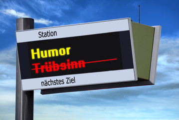 Anzeigetafel 3 - Humor