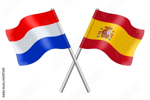 Flags: Spain and the Netherlands