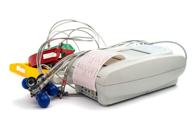 electrocardiograph machine with ECG