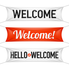 Hello and Welcome banners